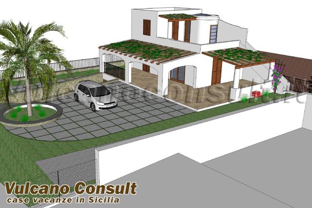 Vendesi Progetto per villa Pianoconte Lipari