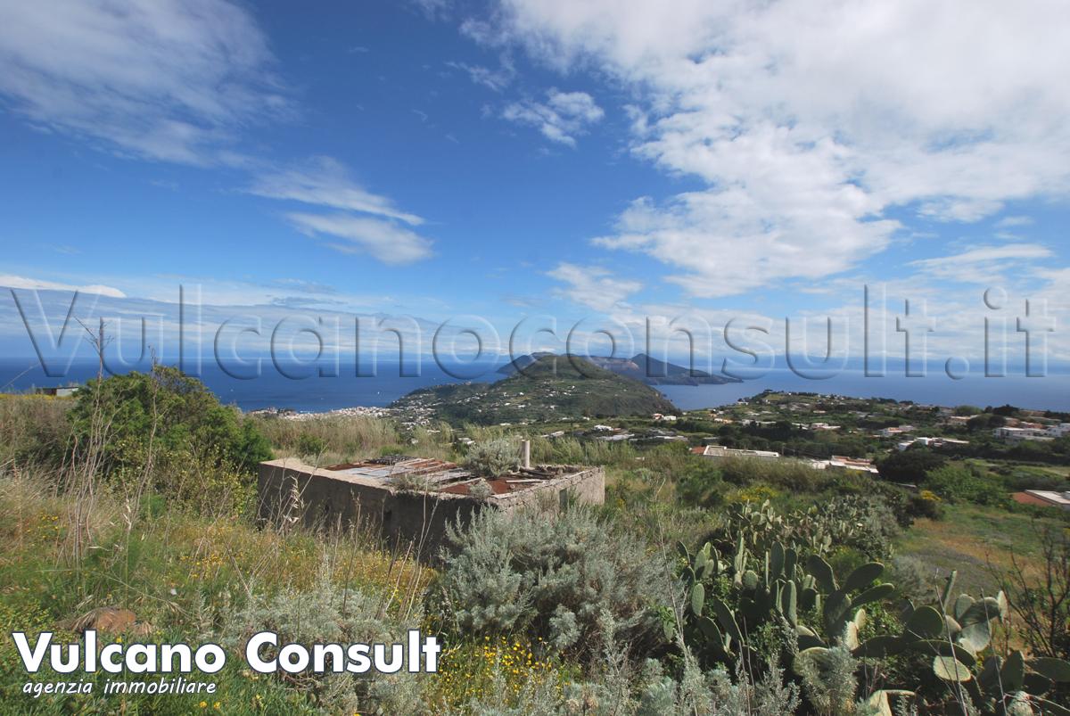 Ruin with panoramic land Pianoconte Lipari