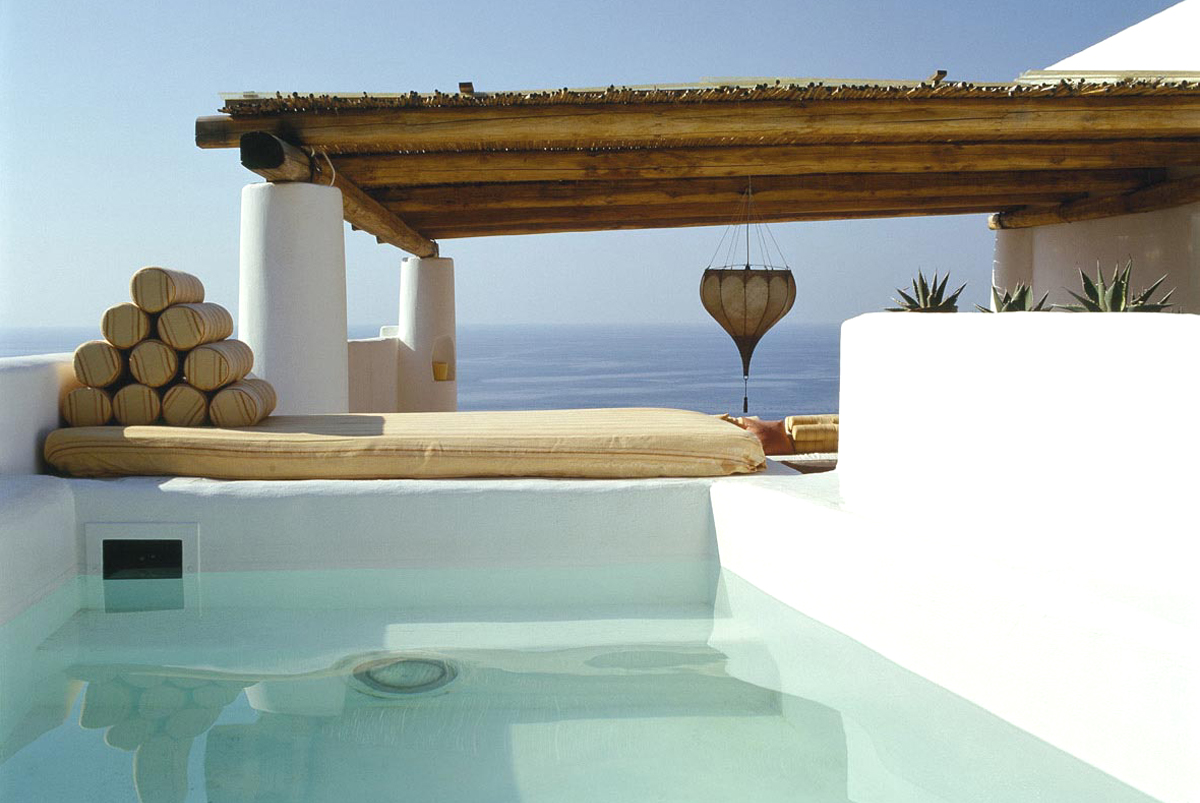For sale in Malfa on the island of Salina, a typical Aeolian house with swimming pool