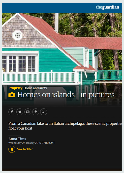 Homes on islands - in pictures